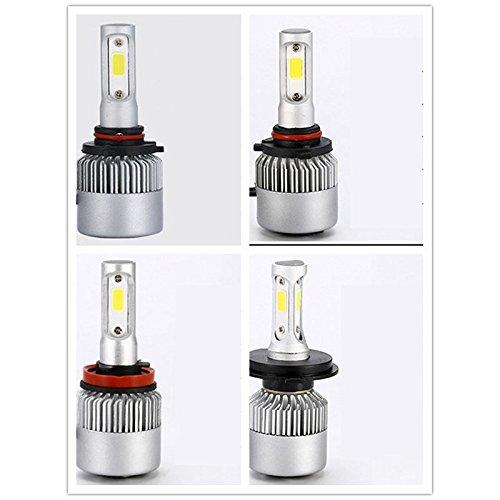 DSstyles 2, 12V, LED-Front-Scheinwerfer COB-LED Auto-Refit-Super-Hell 9005/Hb3/H10