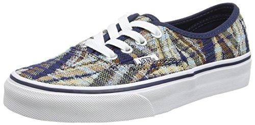 Vans U Authentic Sneakers, Unisex Blu (Blue (Woven Chevron - Dress Blues/True White))