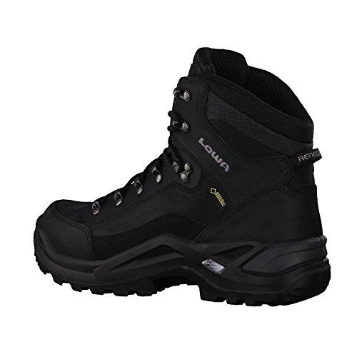 Lowa Renegade Gtx Mid, Stivali da Escursionismo Uomo nero grigio