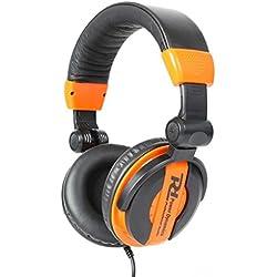 Auricular Dj Studio Live Monitoring naranja negro plegable