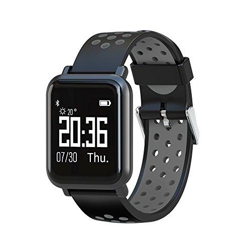Smartwatch, Elospy Fitness Armband Fitness Tracker Uhr mit Pulsmesser Wasserdicht IP68 Pulsuhren Bluetooth Smart Armbanduhr Schrittzähler mit Schlafmonitor Kalorienzählerfür Android und iOS