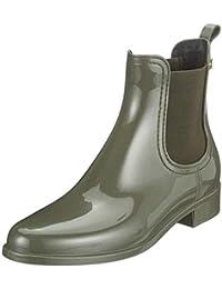 gr.34-47 Volltonfarbe Block Absatz Kurz Stiefel Stiefeletten Damen Schuhe hot