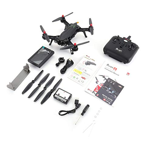 Heaviesk Für MJX Bugs 6 B6FD 2,4 GHz 4CH 6-Achsen-Gyro-RTF-Drohne mit HD 720P 5.8G FPV-Kamera und 4,3 LCD-RX-Monitor Brushless RC Quadcopter
