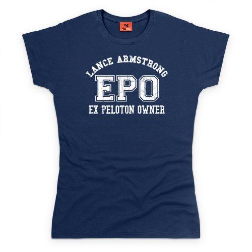 Lance Armstrong EPO T-Shirt, Damen Dunkelblau
