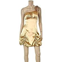 Corto Vestido de cóctel standes AMT vestido fijo Satin one de Shoulder Dress ruiseñor + Lerche