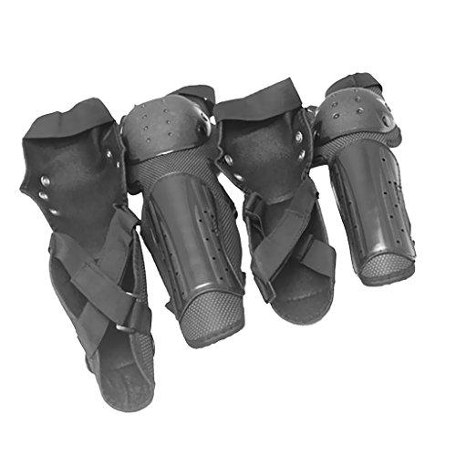 MagiDeal 4 stück Knieschützer Racing Erwachsener Schutzausrüstung Arm Ellbogenschoner Knieprotektoren Für Motorrad