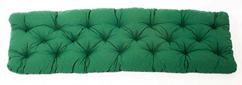 Ambientehome 3er Sitzkissen Bank Evje, grün, ca 150 x 50 x 8 cm, Polsterauflage, Bankauflage