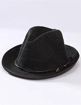 Negli anziani maschi Cappello di paglia primavera e l'estate traspirante ombra cappello estivo cappello Protezione...
