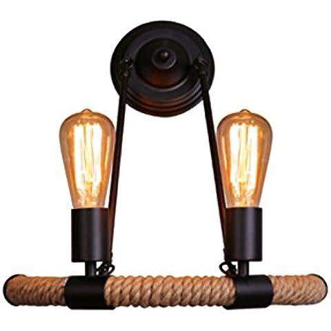 Vashti lámpara colgante Tubo de luz lámpara de techo Americanas/esstischlampe/Plafón/proyección cuerda hängel lámpara araña techo Amer ikanischen Pueblo Industrial cáñamo pared