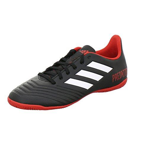 adidas Predator Tango 18.4 in, Chaussures de Futsal Homme, Noir (Negbás/Ftwbla/Rojo 001), 43 1/3 EU