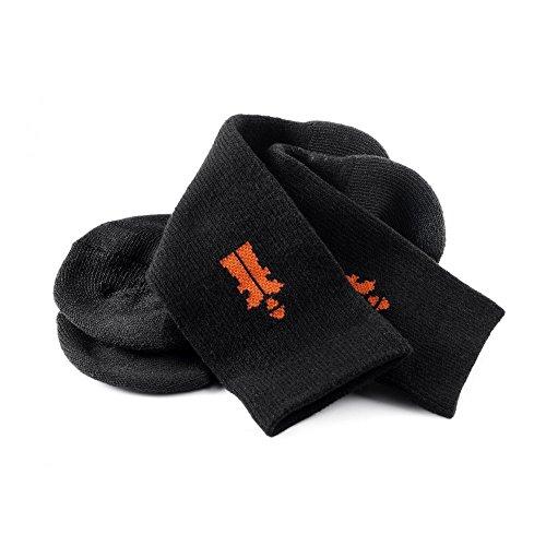 Scruffs 2015 Travailleur Lot de 3 Chaussettes de bottes de travail Noir Taille 7–9.5