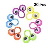 SUPVOX 20 stück Augen Fingerpuppen Augen Finger Spielzeug Party Favor (Zufällige Farbe)