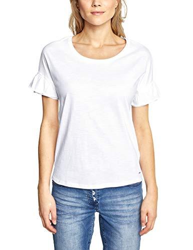 Cecil Damen 313365 T-Shirt, per Pack Weiß (White 10000), X-Small (Herstellergröße:XS) - Weißes Frauen T-shirt Pack