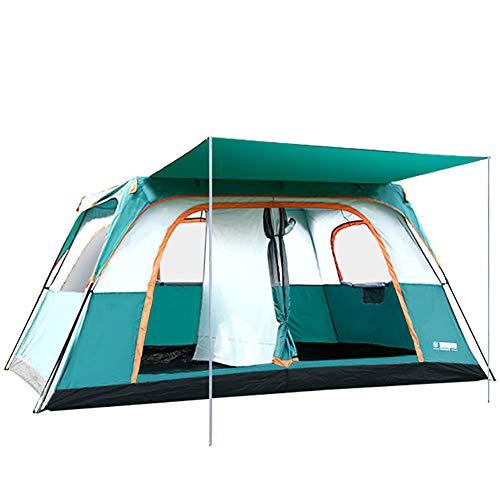 Camping Pop-up-Zelt, 8-12 Personen im Freien wasserdicht schnell öffnende Zelte Familie Backpacking Camping Zelte Sonnenschutz zum Wandern Klettern Strand Garten Angeln Picknick ()