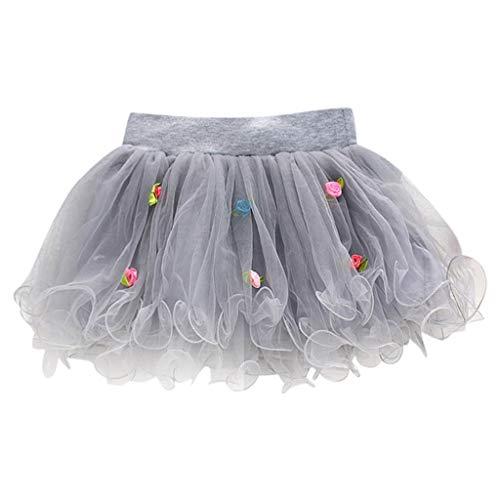 Dresses for Girls Kleider Sommer Damen Kurz Pwtchenty Halblanger Flower Blumendruck Mädchenkleid Prinzessin Kleid Tüll Tutu Pageant Rock