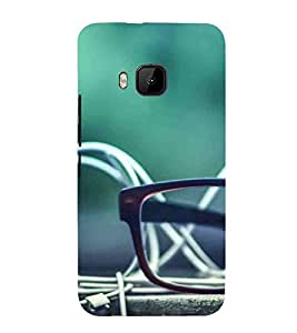 For HTC One M9 :: HTC One M9S :: HTC M9sunglass, green blur background, earphone Designer Printed High Quality Smooth Matte Protective Mobile Case Back Pouch Cover by APEX