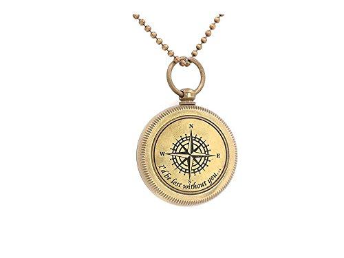 Would verloren, ohne sie Inspirierende Nautisches Richtung Geschenk (Nautische Halskette)
