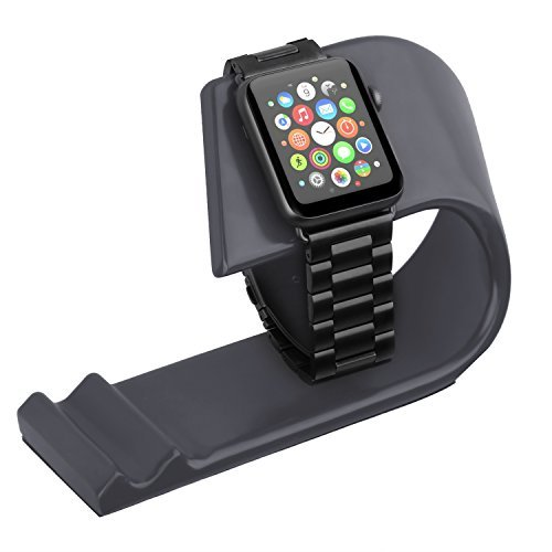 Apple Watch Stand, Bsteed Apple iWatch Stand Charging Dock Stand Station for Apple Watch Series1/2/3, Sport Edition 42mm & 38mm (Black)