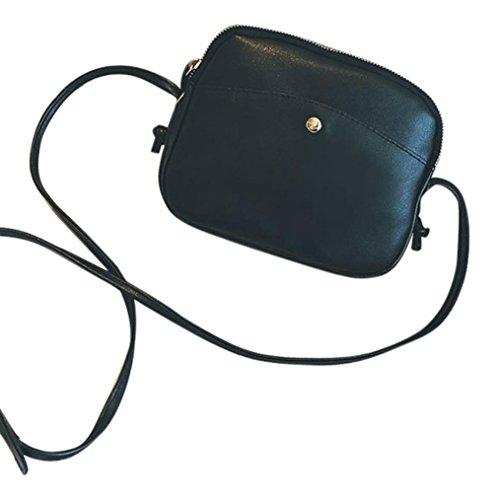 Donna tasca anteriore fibbia piccola moda semplice spalla cellulare packges borse alviero martini tracolla di kangrunmy (nero)