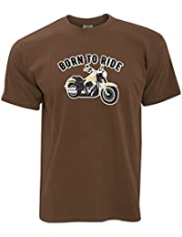 Born To Ride Motorcycle Moto Slogan T-Shirt Pour Hommes