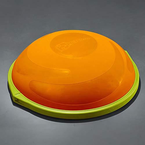 ZHLXZ Half Ball Balance Trainer, Ø 60Cm Inkl Hand Pumpe Beidseitig Nutzbar,Orange,D -