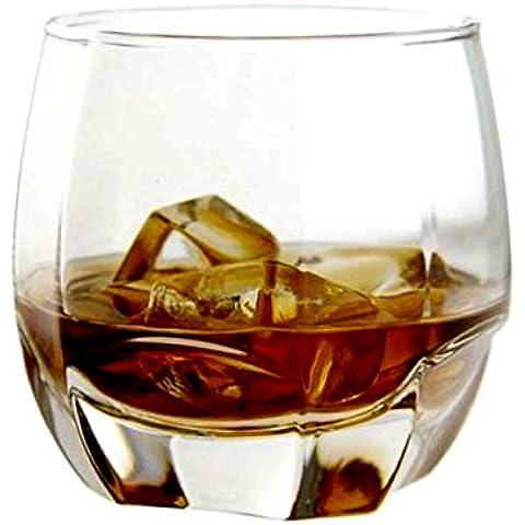 Homestia Diamond Whisky 12.2oz Crystal Gafas Barware Con Pesada Base
