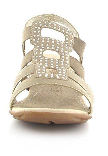 Remonte–Sandales Femme–Beige Chaussures en übergrößen Beige - Beige
