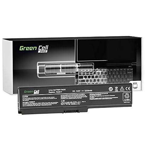 Green Cell® PRO Serie Laptop Akku für Toshiba Satellite C660-1NF (Original Samsung SDI Zellen, 6 Zellen, 5200mAh,