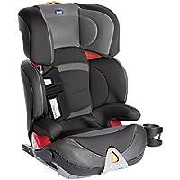 Chicco Oasys 23 EVO FixPlus - Silla de coche con conectores para niños de 3 a 12 años (15-36 kg), grupos 2-3, color gris, rojo o negro