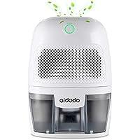 Aidodo Deshumidificador electrico Portátil 600ml Mini silencioso Deshumidificadores de Aire Compacto Inteligente Hogar Salón Habitación Oficina Blanco