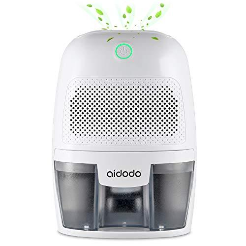 Aidodo deumidificatore per casa dh500b deumidificatori d'aria mini portatile, silenzioso, 600ml, assorbire l'acqua 300ml/24h, auto-off, contro la muffa e l'umidità per ambienti,casa, armadio o garage