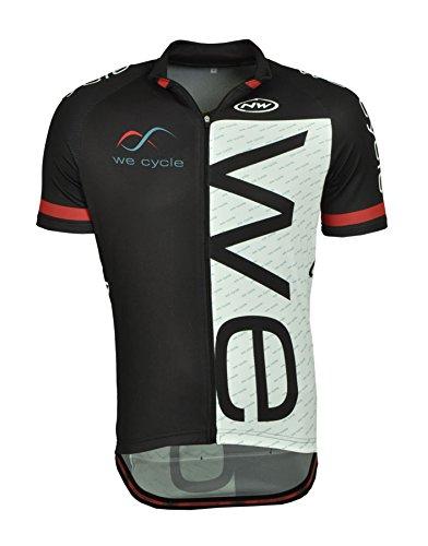we cycle Team Edition II Fahrrad Trikot kurz schwarz/weiß/rot by Northwave: Größe: XXXL (56)