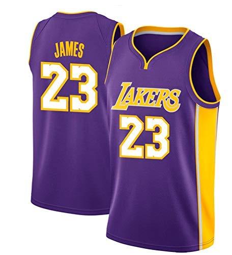 quality design 686d6 5ba11 Basketballtrikot für Herren Lebron James #23 - NBA Lakers, Neu Stoff  Bestickt Swingman Jersey Hemd (Größe: M-XXL)