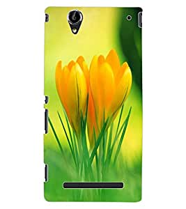 ColourCraft Lovely Flowers Design Back Case Cover for SONY XPERIA T2 ULTRA DUAL D5322