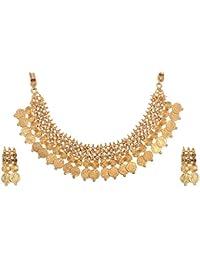 Reeti Fashions Gold Metal Choker Necklace Set For Women (RF17_10B_36)