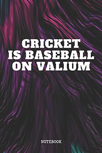 """Notebook: Cricket Sport Quote / Saying Cricket Game Training Coach Planner / Organizer / Lined Notebook (6"""" x 9"""")"""