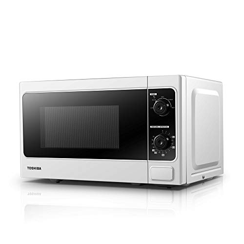 412HTkPMzQL. SS500  - Toshiba Microwave Oven MM-MM20P(WH) 20 Litre, 800 Watt, Solo Microwave Oven with Function Defrost, 5 Power Setting, 0-35min Timer, Stylish Design - White