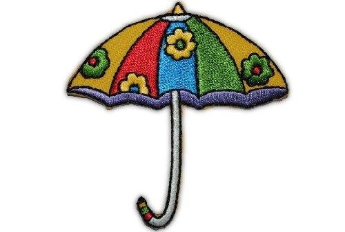 alles-meine.de GmbH Schirm 6,5 cm * 6,7 cm Bügelbild Aufnäher Applikation Regenschirm bunt rot gelb
