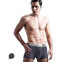 HuntDream Ropa Interior Transpirable con Orificio para el Aire para Hombres Sexy Mesh Boxer Briefs Pack