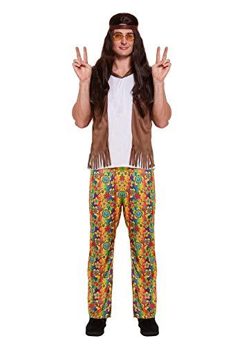 Islander Fashions Erwachsene Herren 60er Jahre 70er Jahre Hippie Hippie Mann Kost�m Buch Woche Tag Outfit One Size