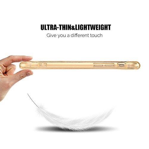 Coque iPhone 7 (4.7 pouce) , TPU Transparente Case Silicone Slim Souple Étui de Protection Flexible Soft Cover Anti Choc Ultra Mince Couverture Bumper Anfire Housse pour iPhone 7 - Violet Jaune