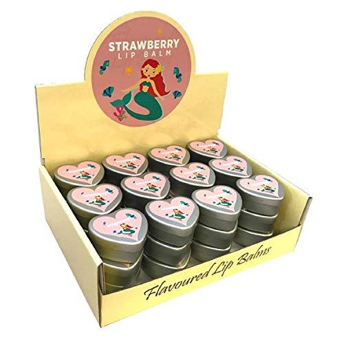 Bits 'n' Bobbles Lippenbalsam mit Meerjungfrau-Erdbeer-Aroma, Weihnachtsstrumpffüller