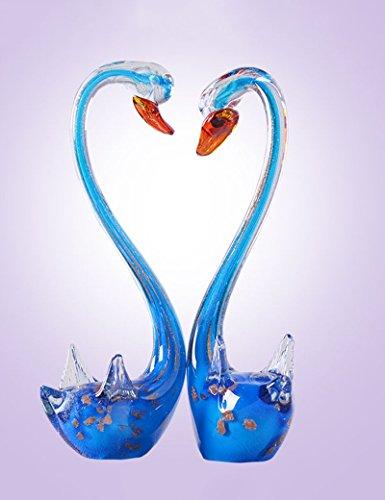 Material de vidrio Regalos de boda creativa Regalo de inauguración del vino Armario de vino Mueble de TV Decoración del hogar, un par ( Color : 2 )
