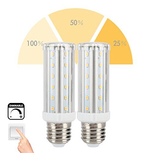 Öuesen 2er 7W Dimmable Mais Birne Beleuchtung ,3 Stufen Dimmable ohne Dimmer E27 LED Mais Licht, warmweiß 700Lumen LED Maiskolben ersetzt 60W LED Lampe für zu Hause (Wohnzimmer, Schlafzimmer), im Hotel oder Fabrik (Led Maiskolben-lampe)