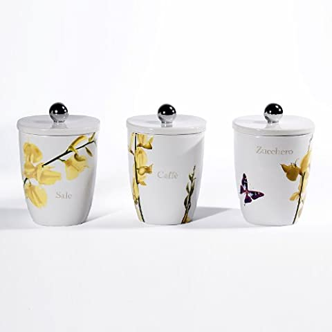 Cucina Vivere Estate Square Canisters, Set of 3