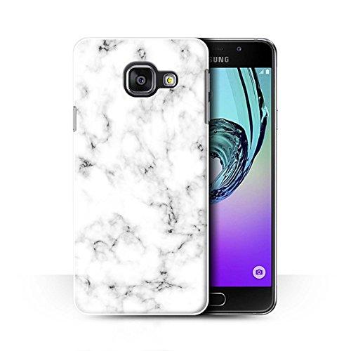 Weißen Granit-fliesen (Stuff4® Hülle/Case für Samsung Galaxy A3 (2016) / Weiß Muster/Marmor Granit Bewirken Kollektion)