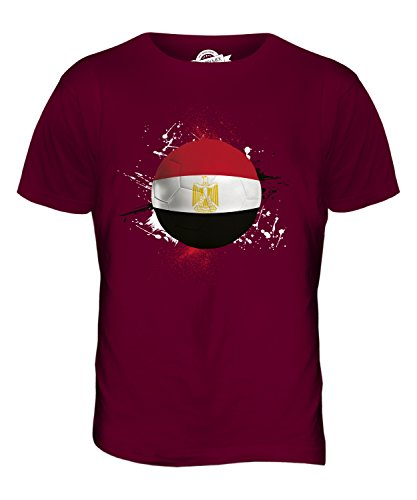 CandyMix Ägypten Fußball Herren T Shirt Burgunderrot