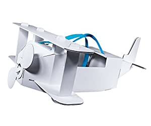 Mein Flugzeug - Spielzeug Kostüm aus Pappe mit Trägergurten für kleine Piloten - Pappspielzeug Flugzeug