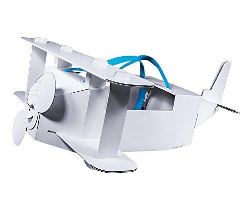 lzeug Kostüm aus Pappe mit Trägergurten für Kleine Piloten - Pappspielzeug Flugzeug (Flugzeug Piloten Kostüm Kinder)