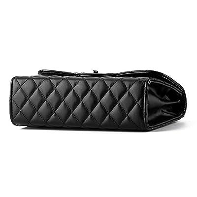 Young & Ming - Femme cuir Sacs portés main Mini Sacs bandoulière Handbag Sacs baguette avec chaîne métallique